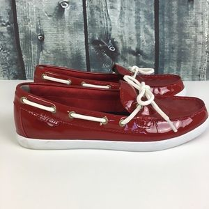 EUC Cole Haan Nantucket Camp Moccasin Red Size 8